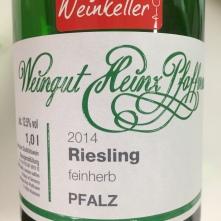 Heinz Pfaffmann Riesling Feinherb 2014