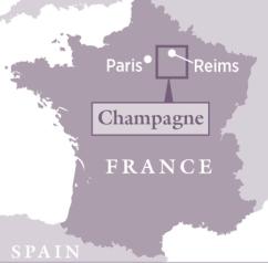 mapa frança champagne